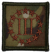 3 Percenter Symbol Threeper Head 2x2 Military Patch / Morale Patch - Multiple Colours