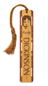 Author - poet - Emily Dickinson Engraved Wooden Bookmark with Tassel