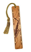 Musical Instrument - Saxaphone Engraved Wooden Bookmark with Tassel