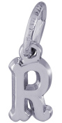 Rembrandt Charms, Mini Letter R, Solid Sterling Silver or Gold
