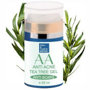 TEA TREE ANTI PIMPLE & ACNE FACIAL moisturiser 50 ml - with ALOE VERA and TEA TREE OIL - 100% Natural by bleumarine Bretania