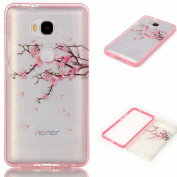 HUAWEI Honour 5X Case, Samidy [Peach Blossom Design] Shock Resistant Protective Case Slim Case for HUAWEI Honour 5X