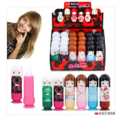 24 x Lip Balm Doll Shaped 6 Different Flavours Display Box 2.6g Wholesale Price (24 Lip Balms
