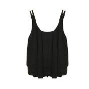 Bluester 1PC Women Bilayer Sleeveless Shirt Chiffon Loose Vest Tank Tops