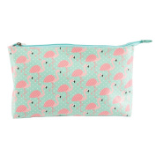TROPICAL FLAMINGO WASH BAG TRAVEL HOLIDAY GIFT PINK