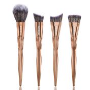 Beau Belle Sculpting Brush Set - Sculpting Makeup Brushes - Sculpting Make Up Brushes - Contour Brush Set - Contouring Brush Set - Make Up Brushes - Makeup Brushes - Professional Make Up Brushes - Rose Gold Makeup Brushes