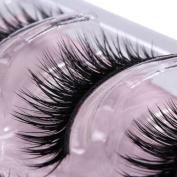 Gemini® 3 Pairs Professional Thick Black False Eyelashes Handmade Soft Fake Lashes Natural Makeup