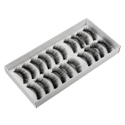 10 Pairs Black Natural Thick Volume False Eye Lash