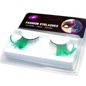GAMT Deluxe Party Stage Dance Costume Feather False Eyelashes Eye Lashes 2 Pairs Green by GAMT