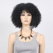 STfantasy 37cm Black Afro Wigs for Black Men Or Women