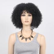 STfantasy 37cm Black Afro Wigs for Black Men Or Women