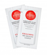 (PRE-RELEASE TRIAL SIZE) Alina Skin Care Purifying Clay Renewal Mask, foil pouch, .740ml - 2 applications