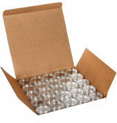 Vivaplex, 25 Clear, 10 Gramme Plastic Pot Jars, Cosmetic Containers, With Lids.