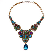 OVERMAL Womens Pendant Chain Women Statement Crystal Bib Beaded Collar Necklace Choker