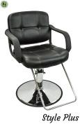 Barber Salon Hydraulic Styling Chair Black