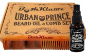 Urban Prince Beard Oil Conditioner and Hair & Beard Comb Gift Set Bundle Kit