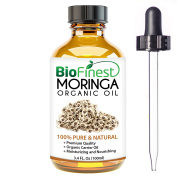 Biofinest Moringa Organic Oil - 100% Pure, Natural, Cold-Pressed - Premium Moisturiser - Soothe Acne, Psoriasis, Eczema, Dry Skins, Scars - .  and Dropper