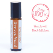 Bye-Bye Veins Essential Oil Blend Roll-On Bottle by Simply Earth - 10ml, 100% Pure Therapeutic Grade
