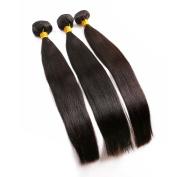 BLISSHAIR Straight Human Hair Closure Malysian Hair Natural Black 60cm