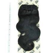 "GEX 8-30"" 8A 100g/Bundle Unprocessed Brazilian Virgin Remy Hair Weft Hair Extension Body Wave Natural Black 12""14""16"""