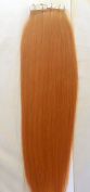 46cm 100grs,40pcs, 100% Human Tape In Hair Extensions # Rose Gold