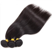 MAXWELL 3 Bundles Remy Virgin Human Hair Double Weft Extensions Unprocessed Silky Straight 7.9m 8.5m 9.1m Natural Black