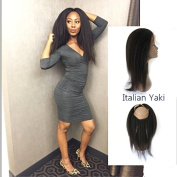 360 Lace Frontal Closure Real Human Hair Brazilian Virgin Hair Lace Band Frontal Italian Yaki