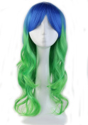 """Heat Resistant Synthetic Wig Japanese Kanekalon Fibre 9 Colours Full Wig with Bangs Long Curly Wavy Wave 24"""" / 60cm Wig for Women Fashion"""