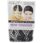 Wig Mall Pack of 3pcs Women's Stocking Hair Nets Nylon Stretch Black