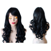 Black Wig Long Wavy Curly Wigs For Women can wear it daily use or Cosplay wigs by Grimm Hair