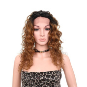 Aoert Lace Front Curly Wigs Heat Resistant Long Middle Part Synthetic Wigs for Women 50cm