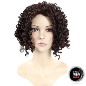 Secretgirl Short Curly Brown Wigs Fashion Women Afro Curly Fluffy Cosplay Party Wig