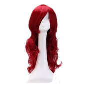 BeneU Cosplay Party Hair Wig 60cm Long Hair Heat Resistant Spiral Curly Wave Costume Glamour Hairs for Women