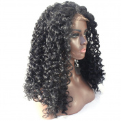 V'Nice Kinky Curly Synthetic Lace Front Wig Natural Black Heat Resistant Fibres