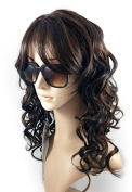 LACE FRONT WIG , NATURAL LONG CURLY LD455