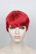 Fashion Heat Resistant fibre 15cm Short Straight Red costume wigs for women