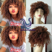 Sunny GraceAfro curly short bob full lace human hair wigs with baby hair ombre lace front wig