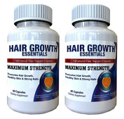 Hair Growth Essentials Pills Supplement For Hair Loss - Advanced Hair Regrowth Treatment With 29 Powerful Hair Growth Vitamins & Nutrients for Rapid Growth for Women and Men - 2 Bottles