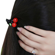 5pcs Lovely Candy Colour Small Cherry Hair Jaw Clip for Women Girl Kids Best Xmas Gifts Pin Hair Accessories