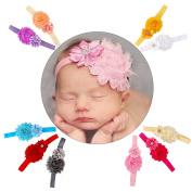 EagleUS 6pcs Baby Girls Toddler Bow Headband Elastic Hair Bows Newborn Headwear