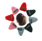 8 pcs Cute woollen Beret style Knitted Hat Caps Girls Hair accessories Hair Clips for Women,Baby,Tooders