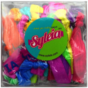 Syleia Hair Ties Gift Box - Elastic Ponytail Holders No Crease Hand Knotted Fold Over Assorted