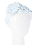 Wrapadoo 2-in-1 Hair Towel, Blue Damask