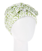 Wrapadoo 2-in-1 Hair Towel, Jade Damask