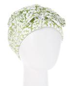 Wrapadoo 2-in-1 Hair Towel, Jade Damask