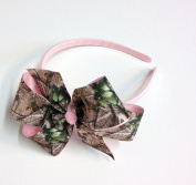 Girls Camouflage Headband Teen Hair Accessory Camo Hair Bow Pink Green Brown Camo Bows