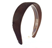 Wardani, 3.8cm wide animal Print hairy Leather headband