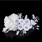 Sunshiny Wedding Hair Combs Bridal Bridesmaids Hair Flower Side Comb Barrette Headband Headpiece Wedding Hari Accessory