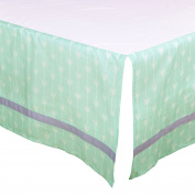 Mint Green Arrow Tailored Crib Dust Ruffle with Grey Stripe by The Peanut Shell