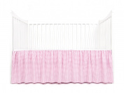 Tadpoles Crib Skirt Classic Gingham, Bright Pink